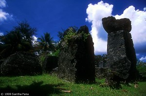 The House of Taga: a forest of megalithic columns, Tinian.