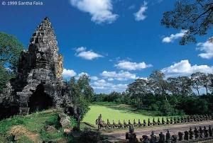 Southern gateway, Angkor Thom, and Naga balustrade.