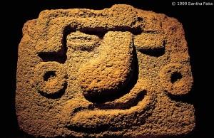Nanahuatzin, the bubonic god, whose sacrifice ushered in the Fifth Sun.