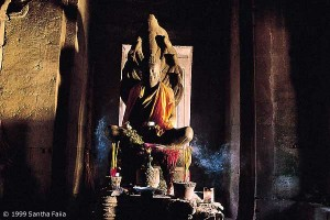 The Buddha in meditation - the Temples of Angkor are still places of active worship today.