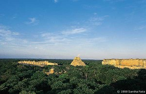The monuments of Uxmal, according to Stansbury Hagar, are terrestrial counterparts of the zodiac.