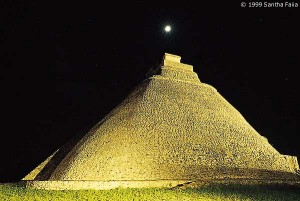 Pyramid of the Magician at Uxmal, part of a great cosmic scheme to mirror heaven on earth.