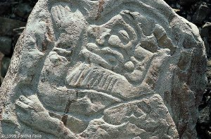 Image of bearded Caucasian from Monte Alban.