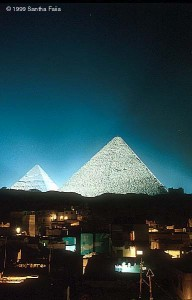 Modern day Giza sprawls at the feet of these ancient giants.