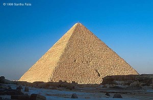 The Great Pyramid of Khufu at Giza. Perhaps it was constructed on such a massive scale to survive both the ravages of time and of destructive ignorance.