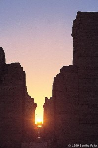 Karnak axis at dawn, 21 December, the winter solstice.