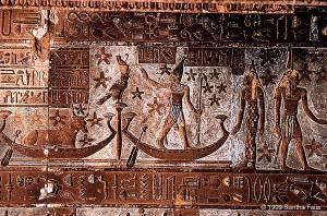 The god Osiris-Orion, centre.