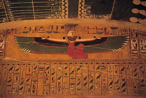 The goddess Nepthys, benefactor and protector of the dead. Tomb of Seti 1, Valley of the Kings.