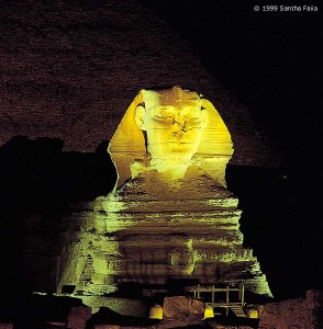The Great Sphinx at Giza - still posing a riddle millennia after its creation.