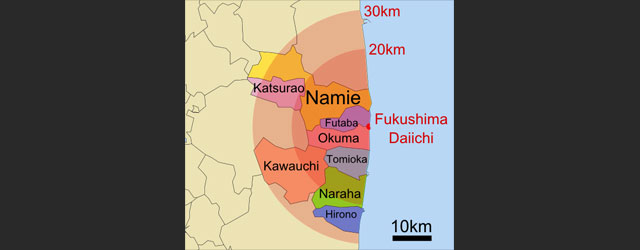 Fukushima evacuation zones. Image Source: Wikimedia