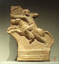 Relief of a Parthian cavalryman