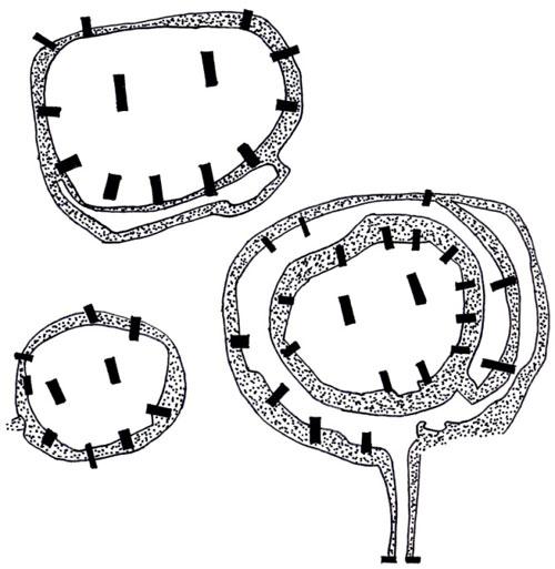 Floor plans Gobekli Tepe