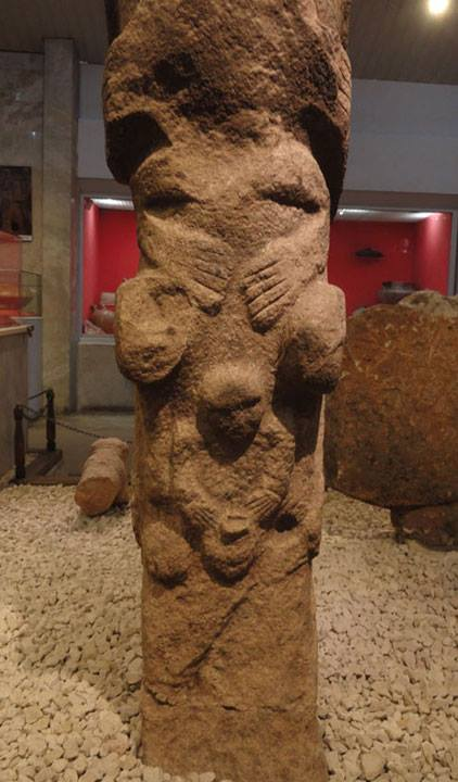 The famous Totem of Gobekli Tepe, hand - hand....