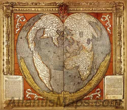 The map at the bottom of the world graham hancock official website figure 1 oronce fin 1534 world map an early cordiform projection which features the antarctic continent splayed along its southern edge some 300 years gumiabroncs Images