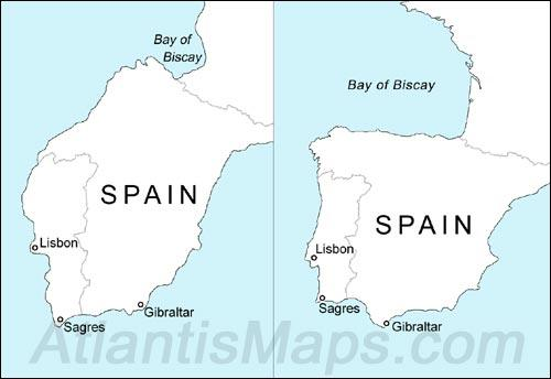 The map at the bottom of the world graham hancock official website figure 9 spain as depicted on schners 1520 antarctic map with borders added for comparative purposes left alongside modern day spain right gumiabroncs Gallery