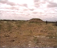 One of the many strange mounds strewn about at Halibixisay Site.