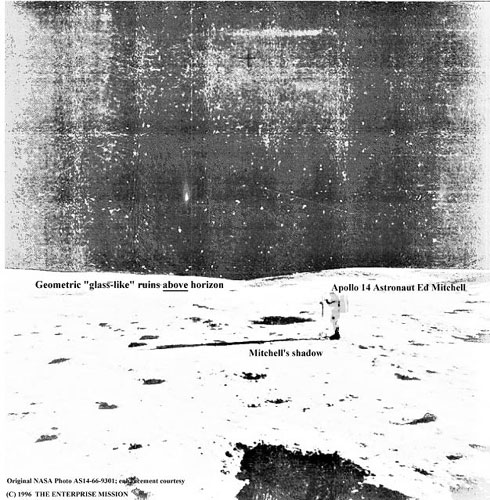 glass-like lunar ruins photographed in person by the Apollo astronauts