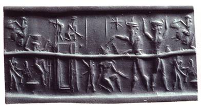 Impression of cylinder seal