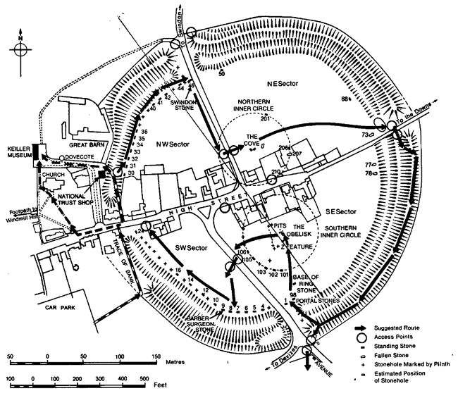 Avebury circle and ditch today. Fig 2