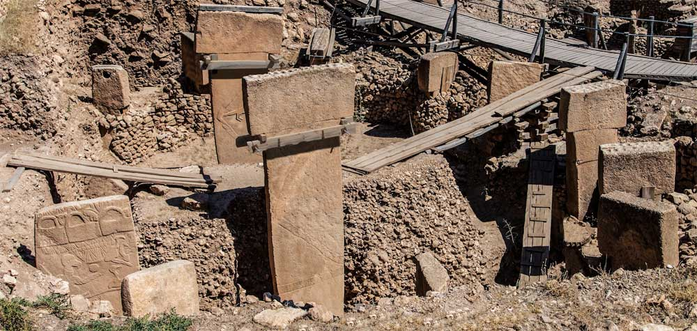 Photo by Santha Faiia. The photo shows Gobekli Tepe, in Turkey, one of several intriguing archaeological sites that are rewriting history and that feature in Graham Hancock's forthcoming book Magicians of the Gods.