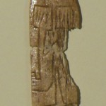 Fig. 1. The tiny bone plaque found at Göbekli Tepe and now on display at Sanliurfa's new archaeological museum.