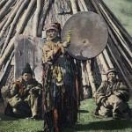Fig. 9. Russian postcard dated 1908 depicting a female shaman of Khakas ethnicity (picture credit: Wiki Commons Agreement).