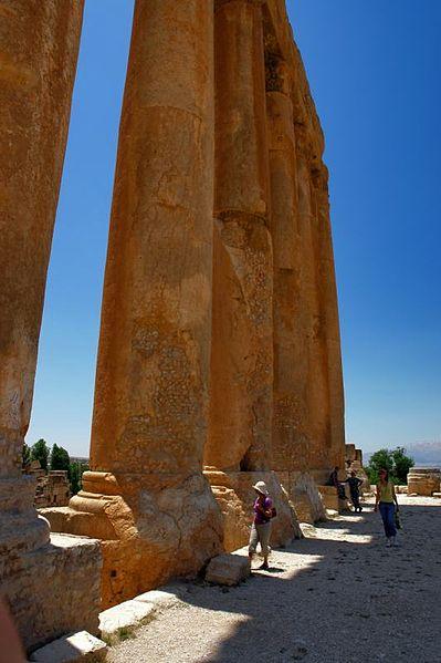 The Temple of Jupiter in Baalbek, Lebenon. Photo by Plamen Matanski.