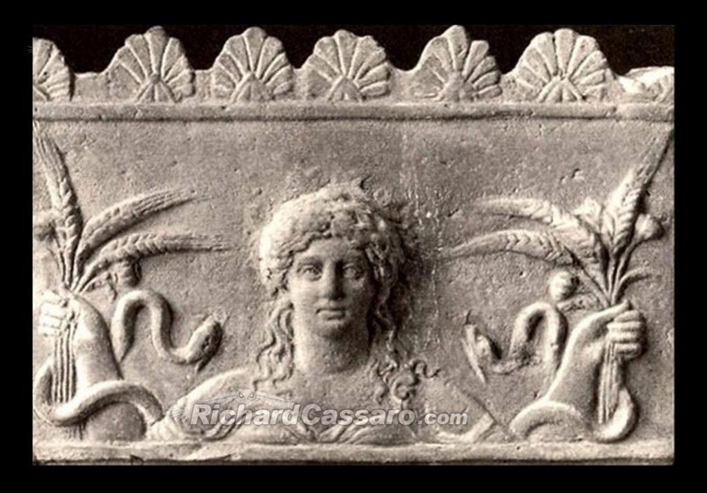 Demeter, Goddess of Harvest, depicted as a GodSelf Icon, Roman, Augustan period.