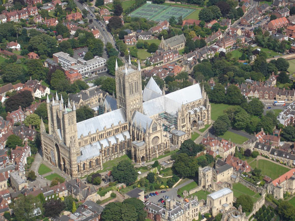 Lincoln Cathedral as seen from the air – The Cross of Lorraine ©Barry Sheppard
