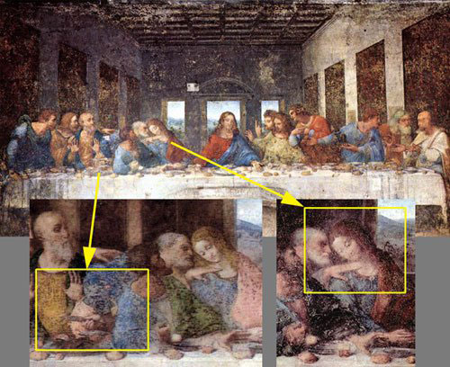 The Disembodied Dagger at the Last Supper. Source: the Last Supper by Leonardo Da Vinci, 1495-1498.