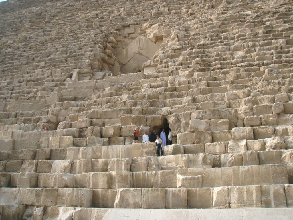Close-up of the Great Pyramid (c) Joshua Doubek CC BY-SA 3.0