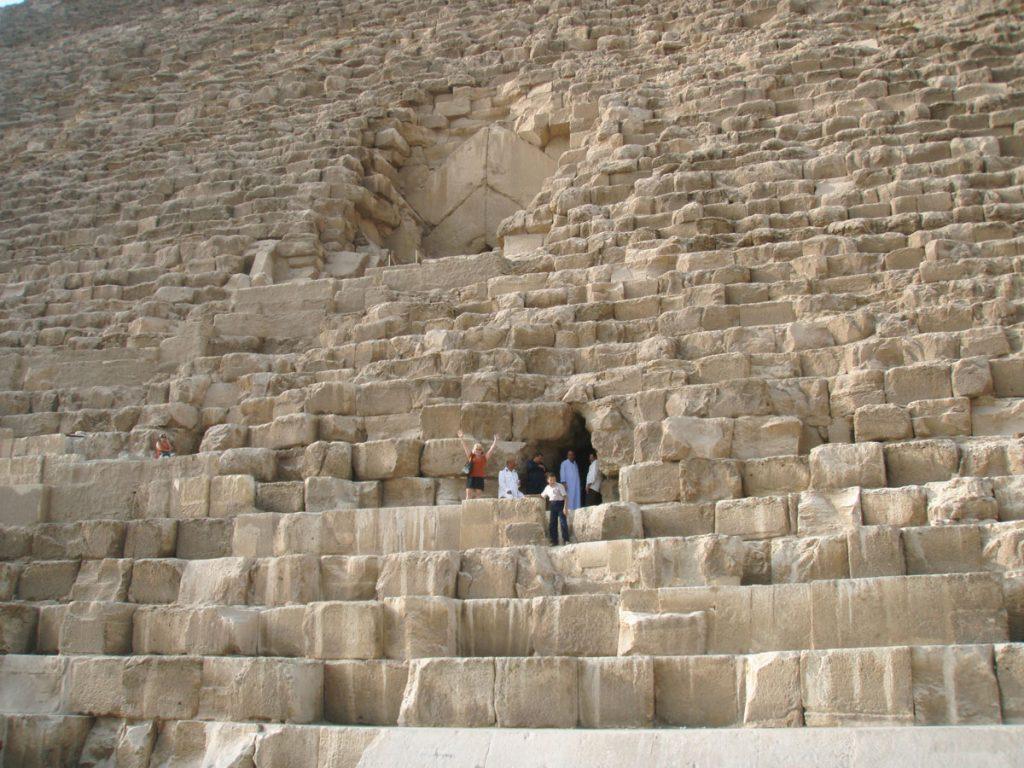 Close-up of the Great Pyramid (c) Joshua Doubek CC BY-SA 3.0