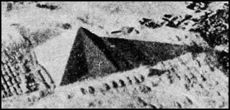 Aerial photo of Great Pyramid, 1940, taken by P. Groves.
