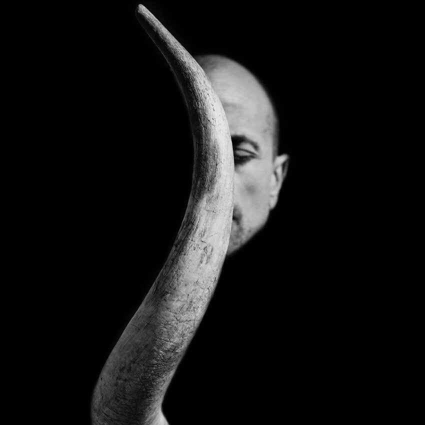 """This was taken during my first shamanic practice after my brain death"" says the author, ""to bring strength back to myself, using the horn of a bull as a symbol of physical strength."" ©Gonzalo Benard."
