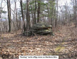"""Rocking"" turtle efficy stone on Marlboro Mtn."