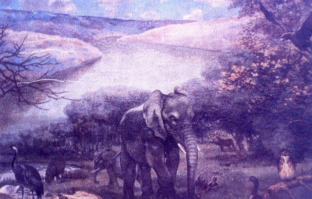 An artist's impression of the Dulam Valley during the Ice Age