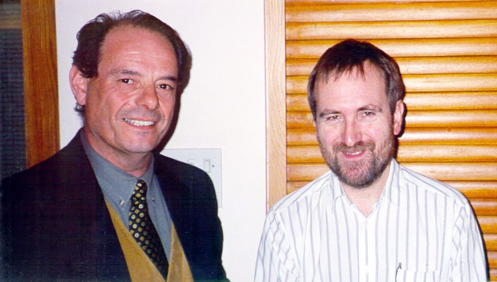 Professor Chris Stringer on the right, main speaker at the January 1998 meeting in Oxford on Neanderthal Man. Stringer was consulted about this Neanderthal presence in Malta, and on its equivalent latitude in Gorham's Cave in Gibraltar, where he had been excavating when we first met in 1994.