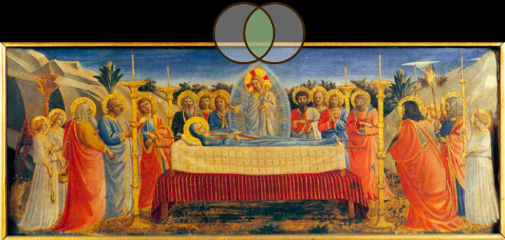 Dormition of the Virgin, 1431 and 1432, by Fra Angelico (circa 1395–1455)