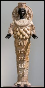Statue of the type of the Artemis of Ephesus. CC BY 2.5