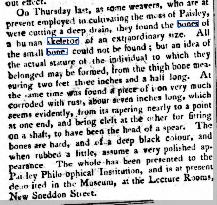 Perthshire Courier, Thursday 11 November 1819. Source: http://www.britishnewspaperarchive.co.uk/