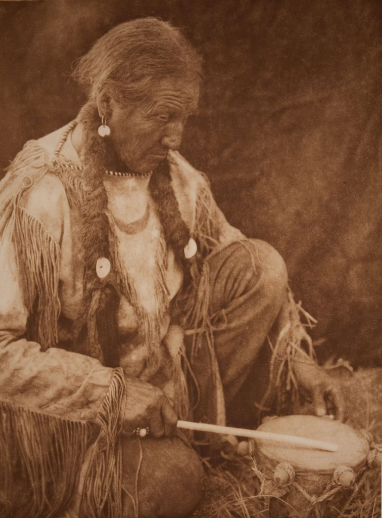 'Peyote Drummer Artist' by Edward Sheriff Curtis, 1927.